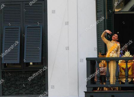 Thailand's Princess Sirivannavari Nariratana appear on the balcony of Suddhaisavarya Prasad Hall of the Grand Palace during a public audience on the last day of Thai King Maha Vajiralongkorn, Bodindradebayavarangkun royal coronation in Bangkok.