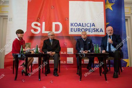 Former President of Poland Aleksander Kwasniewski, Wlodzimierz Cimoszewicz and Frans Timmermans