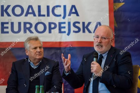 Former President of Poland - Aleksander Kwasniewski and Frans Timmermans