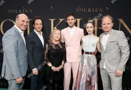 Stock Picture of Matthew Greenfield, David Greenbaum, Searchlight Pictures, Nancy Utley, Nicholas Hoult, Lily Collins and Dome Karukoski