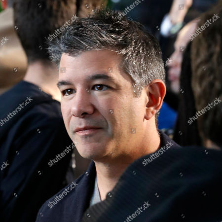 US billionaire and Co-founder of Scour, Red Swoosh and Uber Travis Kalanick stands in the audience before the start of French designer Nicolas Ghesquiere fashion show for the Louis Vuitton label during the Louis Vuitton Cruise 2020 Show at the TWA Flight Center of John F. Kennedy International Airport in New York, New York, USA, 08 May 2019.