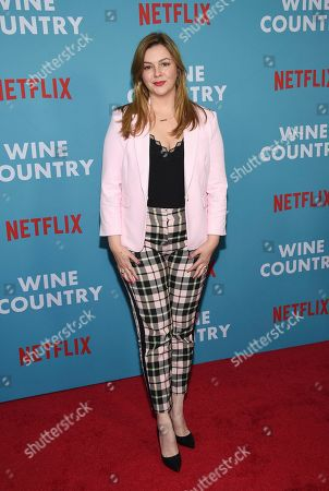 """Amber Tamblyn attends the premiere of """"Wine Country"""" at The Paris Theatre, in New York"""