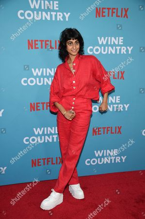 "Sunita Mani attends the premiere of ""Wine Country"" at The Paris Theatre, in New York"