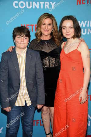 "Ulysses McKittrick, Ana Gasteyer, Frances Mary McKittrick. Ulysses McKittrick, left, Ana Gasteyer and Frances Mary McKittrick attend the premiere of ""Wine Country"" at The Paris Theatre, in New York"