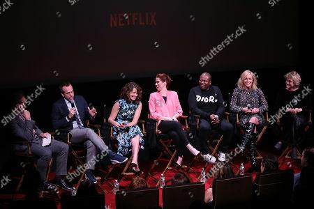 Stock Picture of Jon Hamm, Robert Carlock, Tina Fey, Ellie Kemper, Tituss Burgess, Jane Krakowski and Carol Kane