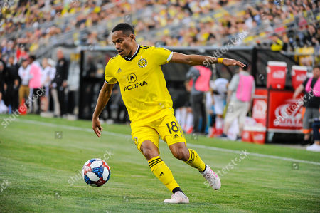 Columbus Crew SC forward Robinho (18) in the first half of the match between Los Angeles Galaxy and Columbus Crew SC at MAPFRE Stadium, in Columbus OH. Mandatory Photo Credit: Dorn Byg/Cal Sport Media. ..Los Angeles Galaxy 0 - Columbus Crew SC 1