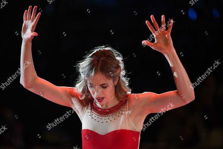 Carolina Kostner from Italy performing