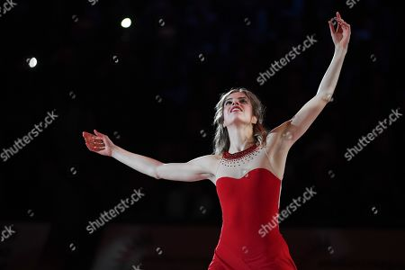 Carolina Kostner from Italy, performing
