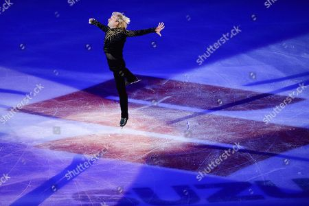 Evgeni Plushenko from Russia performing