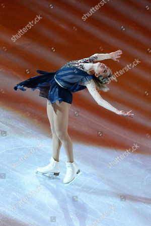 Stock Picture of Carolina Kostner from Italy, performing