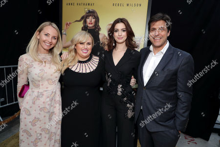 Cassidy Lange, Co-President of Production, Metro Goldwyn Mayer Motion Picture Group, Rebel Wilson, Anne Hathaway, Jonathan Glickman, President of Metro Goldwyn Mayer Motion Picture Group,