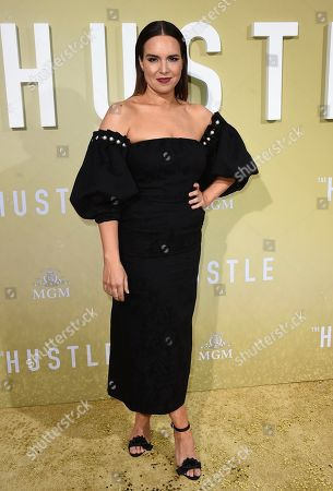"""Stock Picture of Ingrid Oliver arrives at the Los Angeles premiere of """"The Hustle"""" at Arclight Hollywood on"""