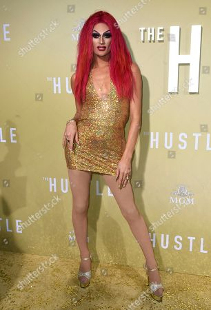"Rhea Litre arrives at the Los Angeles premiere of ""The Hustle"" at Arclight Hollywood on"