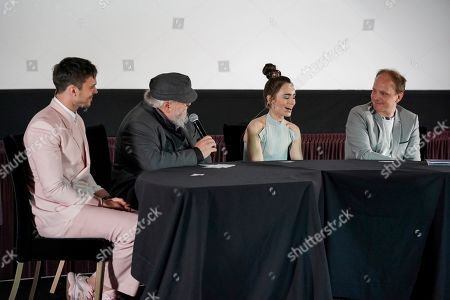 Nicholas Hoult, George R. R. Martin, Lily Collins and Dome Karukoski