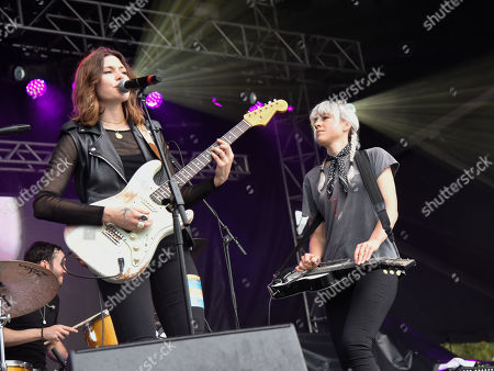 Rebecca Lovell, and Megan Lovell of Larkin Poe performs