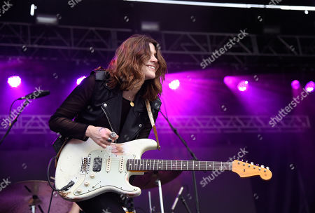 Stock Picture of Rebecca Lovell of Larkin Poe performs