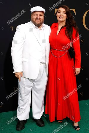 Stephen Kramer Glickman (L) and Rachel Mullins arrive for the LA Special Screening of Fox Searchlight Pictures 'Tolkien' at the Regency Village Theater in Westwood, Los Angeles, California, USA, 08 May 2019. The movie opens in US theaters on 10 May 2019.