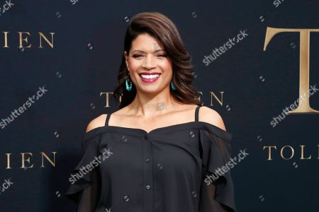 Stock Photo of Andrea Navedo arrives for the LA Special Screening of Fox Searchlight Pictures 'Tolkien' at the Regency Village Theater in Westwood, Los Angeles, California, USA, 08 May 2019. The movie opens in US theaters on 10 May 2019.