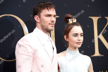 Nicholas Hoult (L) and US-British actress Lily Collins arrive for the LA Special Screening of Fox Searchlight Pictures 'Tolkien' at the Regency Village Theater in Westwood, Los Angeles, California, USA, 08 May 2019. The movie opens in US theaters on 10 May 2019.