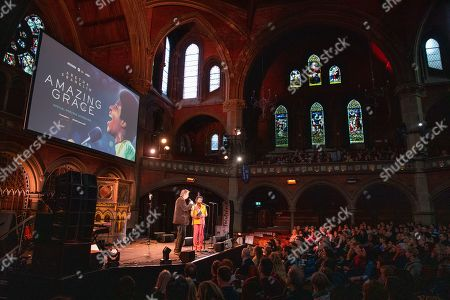 Stock Picture of Joe Boyd and Clara Amfo attend the Amazing Grace Screening at the Union Chapel London