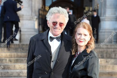 Stock Image of Nelson Monfort and his wife