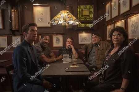 Stock Picture of John Mulaney as John Mulaney, Greer Barnes as Greer Barnes, Dan Naturman as Dan Naturman, Artie Lange as Artie Lange and Estee Adoram as Estee Adoram