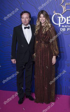 Emmanuel Perrotin et sa compagne Lorena Vergani