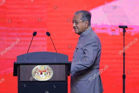 Editorial photo of Malaysian Prime Minister makes address for anniversary of new government, Kuala Lumpur, Malaysia - 09 May 2019