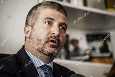 The National Secretary of CasaPound Italia Simone Di Stefano