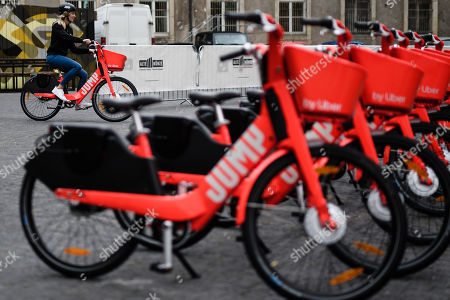 Uber presents Jump electric bicycle service Berlin Stock