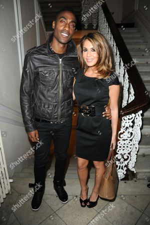 Stock Picture of Simon Webbe and girlfriend Layla Manoochehri