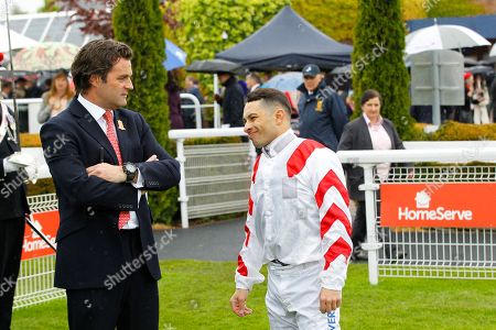 Silvestre De Sousa with Chester supremo Richard Thomas at Chester.