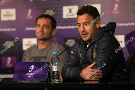 Greg Laidlaw (R) pictured during at press conference