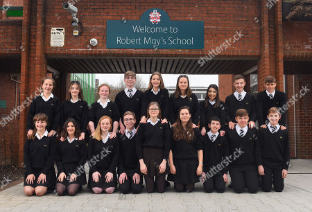 Editorial image of School has nine sets of twins preparing to take their GCSEs, Odiham, Hampshire, UK - 06 May 2019