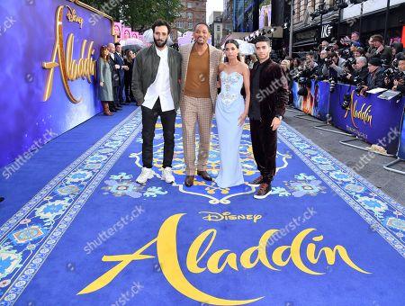 Will Smith, Mena Massoud, Naomi Scott and Marwan Kenzari