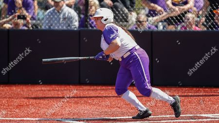 Northern Iowa's Jaclyn Spencer hits an RBI-single against Loyola during an NCAA softball game on in Chicago