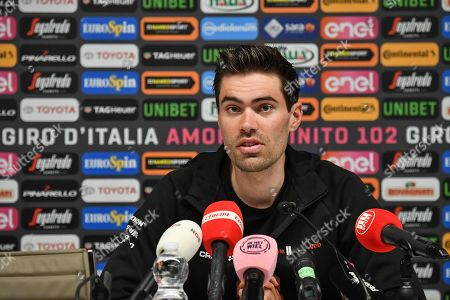 Dutch rider Tom Dumoulin of Team Sunweb attends a press conference ahead the 2019 Giro d'Italia cycling race in Bologna, Italy, 09 May 2019. The 102nd edition of the Giro d'Italia will start in Bologna on 11 May 2019.
