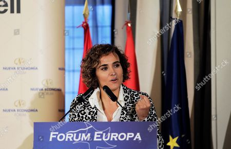 People's Party (PP) head of list for the European elections Dolors Montserrat speaks during a event held in Madrid, Spain, 09 May 2019. The European Union parliamentary elections will take place from 23 to 26 May 2019.