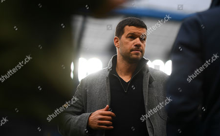 Former Chelsea and Germany player Michael Ballack working for television