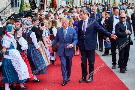 Prince Charles at a reception at the Max-Joseph-Platz, Munich