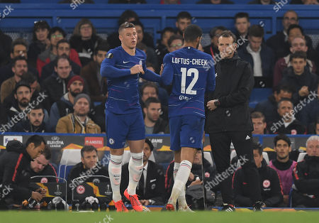 Ruben Loftus-Cheek of Chelsea is replaced by Ross Barkley of Chelsea