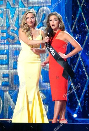 Stock Picture of Miss America 2015 Kira Kazantsev, left, conducts an onstage interview with Miss Florida Taylor Tyson during the second night of preliminary competition in the Miss America competition in Atlantic City N.J. on . Tourism generated $44.7 billion in spending in New Jersey in 2018, Gov. Phil Murphy announced on May 9, 2019