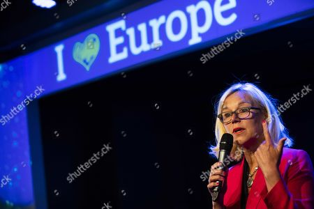 Foreign trade minister Sigrid Kaag of Dutch liberal democrats party D66, speeches during the D66 loves Europe-event in Utrecht, the Netherlands, 09 May 2019. The event is the kick-off of the campaign of D66 for the EU elections.