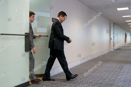"""Sen. Marco Rubio, R-Fla., leaves after a Senate Intelligence Committee meeting on Capitol Hill in Washington, . Some Republicans are lashing out at Intelligence Committee Chairman Richard Burr, R-N.C., for his subpoena of President Donald Trump's son to answer questions about his 2017 testimony to the panel as part of its probe into Russian election interference, a move that suggests the Russia investigation is not """"case closed"""" as some in the GOP insists"""