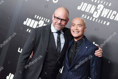 Stock Picture of Alton Brown and Mark Dacascos