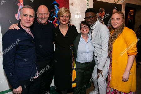 Stock Image of Nick Sidi (Producer), Christopher Harper (Producer), Marianne Elliott (Co-Director), Cindy Tolan (Producer), Kwame Kwei-Armah (Artistic Director) and Miranda Cromwell (Co-Director)