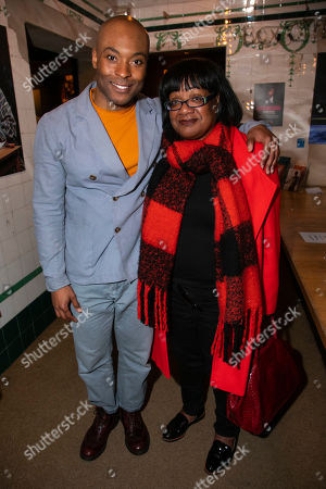 Stock Image of Arinze Kene (Biff Loman) and Diane Abbott