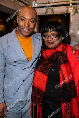 Arinze Kene (Biff Loman) and Diane Abbott