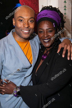 Arinze Kene (Biff Loman) and Sharon D Clarke (Linda Loman)