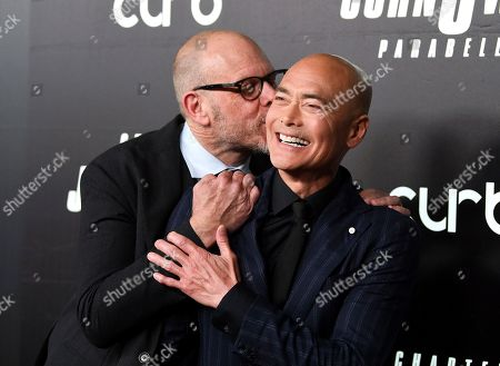 "Alton Brown, Mark Dacascos. Chef Alton Brown, left, and actor Mark Dacascos attend the world premiere of ""John Wick: Chapter 3 - Parabellum"" at One Hanson, in New York"